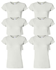 Gildan G640L Women Softstyle 4.5 Oz. Fit T-Shirt 6-Pack at GotApparel