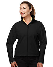 TRI-MOUNTAIN PERFORMANCE 6420 Women Ascent Poly Stretch Bonded Soft Shell Jacket at GotApparel