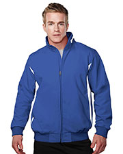 TRI-MOUNTAIN PERFORMANCE 6430 88% Polyester & 12% Spandex Bonded Stretch Woven Water Resistant Jacket at GotApparel