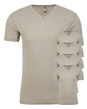 Next Level 6440 Men Premium Fitted Sueded V-Neck Tee 5-Pack at GotApparel