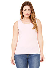 Bella + Canvas 6480 Women Missy Widestrap Baby Rib Tank at GotApparel