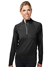 TRI-MOUNTAIN PERFORMANCE 657 Women Hyperion Knit Quarter Zipper Jogging Pullover at GotApparel