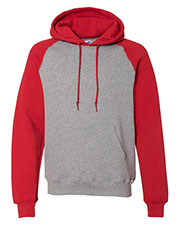 Russell Athletic 693hbm  Dri Power  Colorblock Raglan Hooded Pullover Sweatshirt at GotApparel