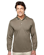 TRI-MOUNTAIN PERFORMANCE 658 Men Escalate Poly Ultracool Pique Long Sleeve Golf Shirt at GotApparel