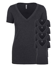 Next Level 6640 Women Cvc Deep V 5-Pack at GotApparel