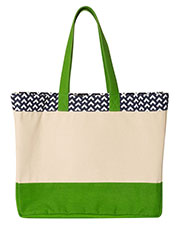 Brookson Bay Bb300  Patterned Top Beach Tote at GotApparel
