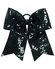 Augusta 6702AUG Women Sequin Cheer Hair Bow at GotApparel