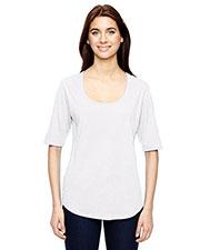 Anvil 6756L Women Tri-Blend Deep Scoop 1/2 Sleeve T-Shirt at GotApparel