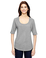 Anvil 6756L Women Tri-Blend Deep Scoop 1/2 Sleeve T-Shirt at GotApparel