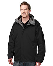 TRI-MOUNTAIN PERFORMANCE 6850 Men Washington Poly Bonded Soft Shell 3 In 1 Jacket at GotApparel