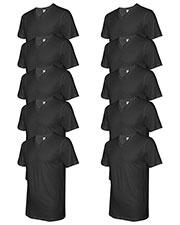 Lat 6907 Men Fine Jersey V-Neck Short-Sleeve T-Shirt 10-Pack at GotApparel