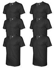 Lat 6907 Men Fine Jersey V-Neck Short-Sleeve T-Shirt 6-Pack at GotApparel