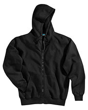 Tri-Mountain 690 Men Prospect Sueded Finish Hooded Full Zip Sweatshirt at GotApparel