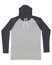 LAT 6917 Men 4.5 oz Hooded Raglan Long-Sleeve T-Shirt at GotApparel