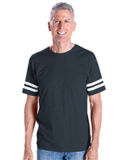 LAT 6937  Fine Jersey Football T-Shirt at GotApparel