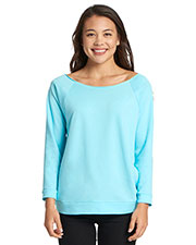 Next Level 6951 Women The Terry Raw-Edge 3/4-Sleeve Raglan at GotApparel