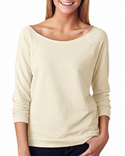 Next Level 6951 Women The Terry Raw-Edge 3/4Sleeve Raglan at GotApparel