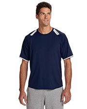 Russell Athletic 6B6DPM Adult DriPower T-Shirt with Colorblock Inserts at GotApparel