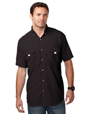 TRI-MOUNTAIN PERFORMANCE 703 Men Reef Nylon Shirt With Upf Protection And Ventilated Back at GotApparel