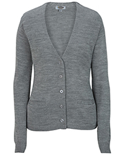 Edwards 7045 Women V-Neck Cardigan Sweater-Tuff-Pil Plus at GotApparel