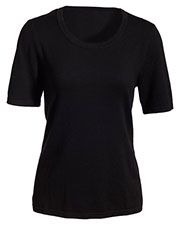 Edwards 7055 Women's Short-Sleeve Scoop Neck Sweater at GotApparel