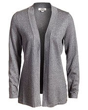 Edwards 7056 Women's Long-Sleeve Hemmed Cuff Open Front Cardigan Sweater at GotApparel