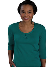 Edwards 7057 Women's Twisted Knot 3/4 Sleeve Sweater at GotApparel