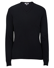 Edwards 7065 Women V-Neck Sweater-Tuff-Pil Plus at GotApparel