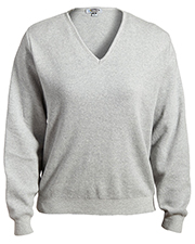 Edwards 7090 Women V-Neck Cotton Sweater at GotApparel