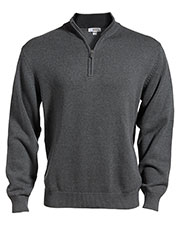 Edwards 712 Unisex Long-Sleeve Inner Collar Quarter Zip Cotton Blend Sweater at GotApparel