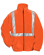 Tri-Mountain 7130 Men's Precinct Anti Pilling Safety Fleece Jacket ANSI Class 2/Level 2 at GotApparel