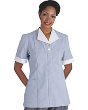 Edwards 7275 Women Cord Short-Sleeve House Keeping Tunic at GotApparel