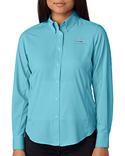 Custom Embroidered Columbia 7278 Ladies 2.4 oz Tamiami II Long-Sleeve Shirt at GotApparel