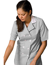 Edwards 7287 Women's Double Breasted Short-Sleeve Housekeeping Tunic at GotApparel