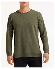 Anvil 73000 Unisex Light Terry Crew at GotApparel
