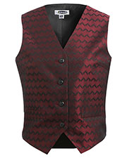 Edwards 7391 Women Swirl Brocade V-Neck Vest at GotApparel