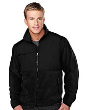 Tri-Mountain 7450 Men Frontiersman Panda Fleece Jacket With Nylon-Paneling at GotApparel