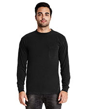 Next Level 7451 Men Inspired Dye Long-Sleeve Crew with Pocket at GotApparel
