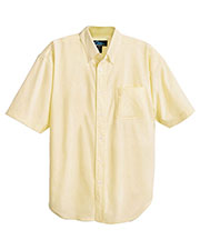 Tri-Mountain 748 Men Retro Stain Resistant Short Sleeve Oxford Shirt at GotApparel