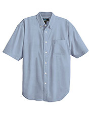 Tri-Mountain 748 Men 60/40 Stain-Resistant Short-Sleeve Oxford Shirt at GotApparel