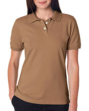 Ultraclub 7500L Women Classic Platinum Polo at GotApparel