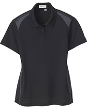 IL Migliore 75054 Women's Recycled Polyester Performance Honeycomb Color Block Polo at GotApparel