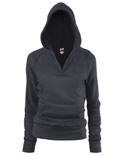 Soffe 7580G  Grl Rugby Deep V Hood Cp at GotApparel