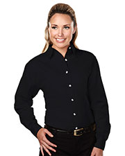 Tri-Mountain 762 Women Specialist Stain Resistant Long Sleeve Twill Shirt at GotApparel