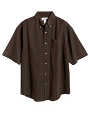 Tri-Mountain 768 Men Recruit Stain Resistant Short Sleeve Twill Shirt at GotApparel
