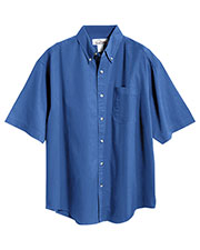 Tri-Mountain 768 Men Recruit Stain-Resistant Short-Sleeve Twill Shirt at GotApparel