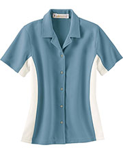 Il Migliore 77016 Women Knit Ottoman ColorBlock Camp Shirt at GotApparel