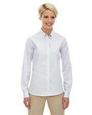 North End 77041 Women Establish Wrinkle-Resistant Cotton Blend Dobby Stripe Shirt at GotApparel
