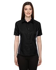North End 77042 Women Fuse Colorblock Twill Shirt at GotApparel