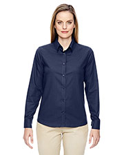 North End 77043 Women Paramount Wrinkle-Resistant Cotton Blend Twill Checkered Shirt at GotApparel